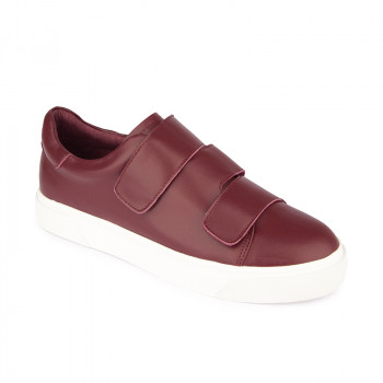 LEATHER TRIPLE VELCRO STRAPS SNEAKERS