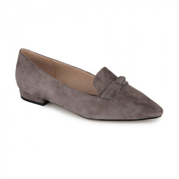 KID SUEDE POINTY TOE LOAFER