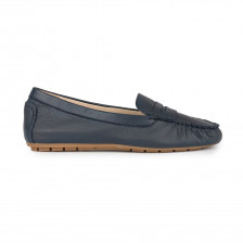 TUMBLED LEATHER MOCCASIN PENNY LOAFER