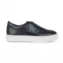 CALF LEATHER SNEAKER WITH VELCRO STRAP