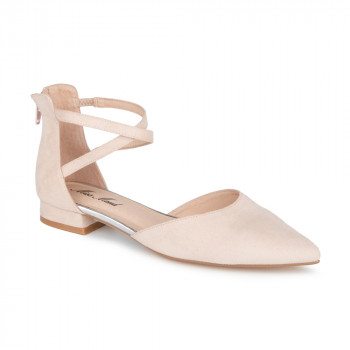 POINTY TOE FLAT WITH DOUBLE ANKLE STRAPS