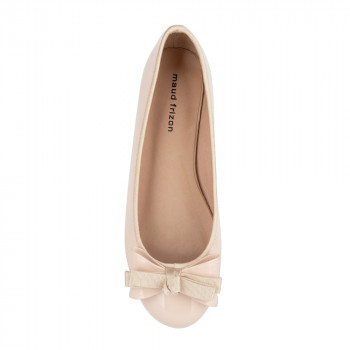 BOW-DETAIL PATENT VEGAN LEATHER BALLERINA