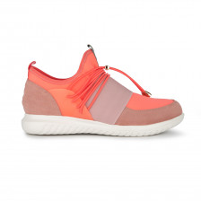 """NIKI"" ELASTICIZED LACE-UP SNEAKER WITH QUILTED BACK"