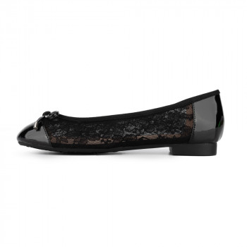 FLORAL LACE BALLERINA FLATS