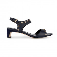STUD EMBELLISHED LEATHER SANDAL