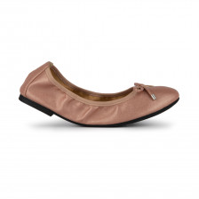 """GANAELLE"" FAUX LEATHER WITH BOW DETAILS FOLDABLE BALLET FLATS"