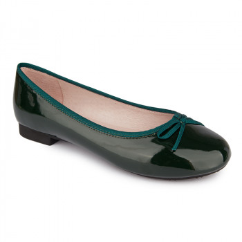 PATENT VEGAN LEATHER COMFORT BALLERINAS
