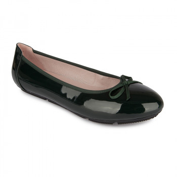 PATENT VEGAN LEATHER BALLERINAS